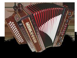Historical steirische harmonika Kobližek